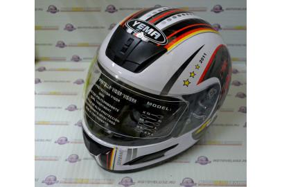 Шлем интеграл HIZER 502 белый football L