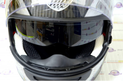"Шлем интеграл ""THH"" TS-42#7 BLK/GRAY 2-стекла (M) (Carbon)"