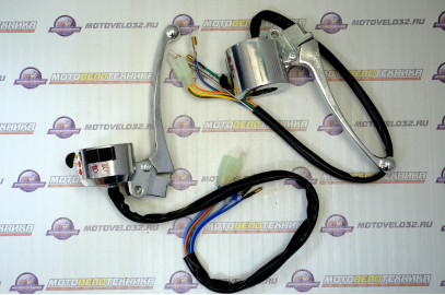 Блок переключателей рулевой левый Мопед Delta (фишка) комплект