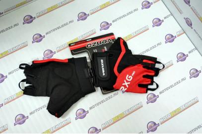 Велоперчатки, VZ-F29-003, M, короткий палец, VENZO красный,