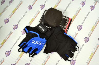 Велоперчатки, VZ-F29-003, L, короткий палец, VENZO синий,