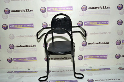 Сиденье на багажник для детей черное с откидной спинк