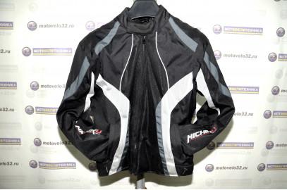 Куртка мотоциклетная (текстиль) Summer Metropolis Черно-белый (Размер XL) MICHIRU