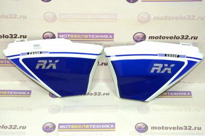 Щиток обл. боковой ML Мопед Alpha RX, RC GS110 комплект синий