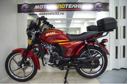 "Мопед  Alpha ""Sport"" 50cc R17 кофр"
