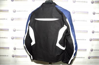 Куртка мотоциклетна кожа Street fighter  M черно-синий
