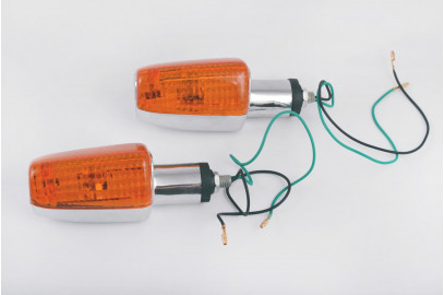 Указатели поворотов универсальные хром желтое стекло BF-12