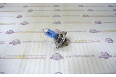 Лампа 12V35/35W H4 с улучшенным фокусом галоген синяя SM