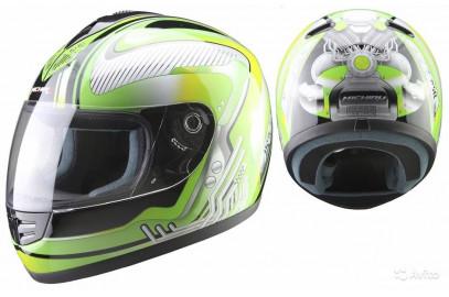 Шлем интеграл MI 120 Mechanics Green (Размер L) MICHIRU