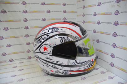 Шлем интеграл HIZER 501 белый S