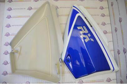 Щиток обл. боковой Мопед Alpha RX, Racer Trophy, комплект синий