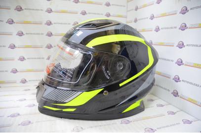 Шлем интеграл HIZER B562 (M) #1 black/yellow
