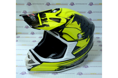 Шлем кросс HIZER B6195 (L) #2 black/yellow