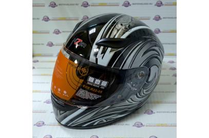 Шлем интеграл HIZER 521 черный M