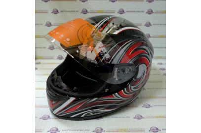 Шлем интеграл HIZER 521 красный M