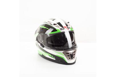 Шлем интеграл HIZER B599 (L) #1 white/green