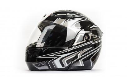 Шлем интеграл HIZER 620 черный  (S)