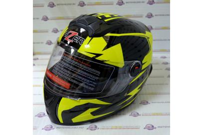 Шлем интеграл HIZER B561 черно-желтый (L)