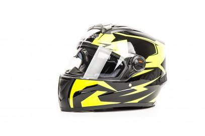 Шлем интеграл HIZER B561 черно-желтый (M)