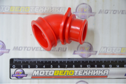 Патрубок воздушного фильтра  Suzuki LETS NEW  красный