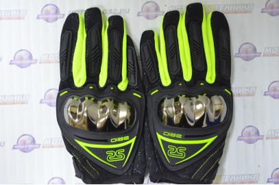 Перчатки AX-01 зеленые, тачскрин палец размер M