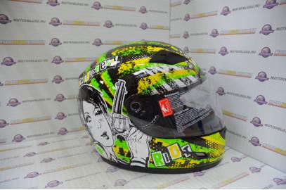 Шлем интеграл THH TS-39#12 BLK/GREEN (S)