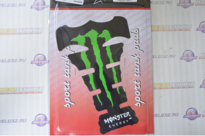 Наклейка на бак MONSTER ENERGY (силикон, зеленая) (#5416F)