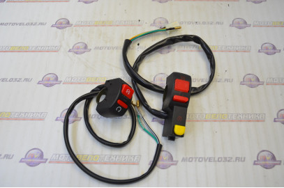 Блок переключателей рулевой TTR125, питбайк, Kayo, комплект (левый, правый)