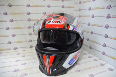 Шлем интеграл Ataki FF311 Monster черный глянцевый  L