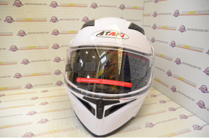 Шлем модуляр Ataki FF902 Solid белый глянцевый    S