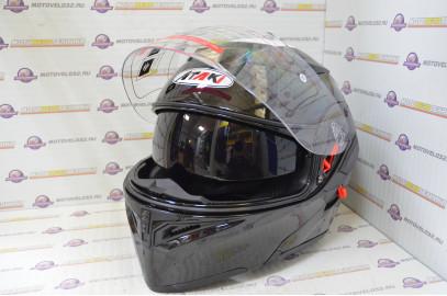 Шлем модуляр Ataki FF902 Solid черный глянцевый   M