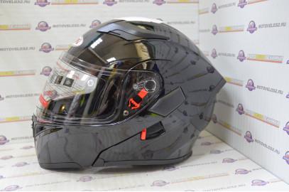 Шлем модуляр Ataki FF902 Solid черный глянцевый  L
