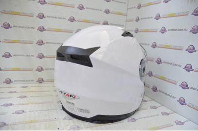 Шлем открытый Ataki OF512 Solid белый глянцевый   M