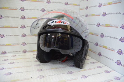 Шлем открытый Ataki OF512 Solid черный глянцевый   M