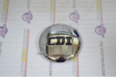 Крышка головки цилиндра левая круглая хром Питбайк 125, 140