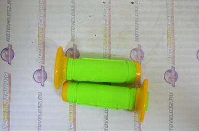 Ручки руля в сборе KAYO, TTR  желто зелёные
