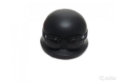 Шлем BLD 130 каска с очками, черная матовая