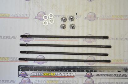 Шпильки цилиндра К-Т L-212 +205  d-6мм  KAYO Basic, TTR 125   с гайками