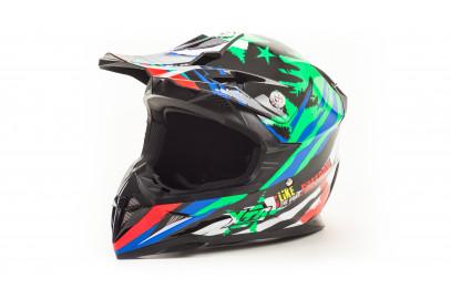 Шлем кросс HIZER 211 (M) (подростковый)