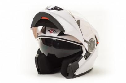 Шлем модуляр HIZER 627 (M) white