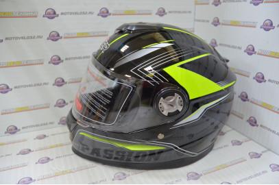 Шлем интеграл HIZER B565 (S) #3 black/yellow