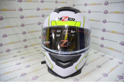 Шлем интеграл HIZER J5318 (L) #2 white/yellow