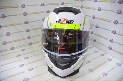 Шлем интеграл HIZER J5318 (M) #2 white/yellow