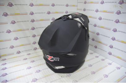 Шлем кроссовый HIZER J6801 (L) #3 matt black