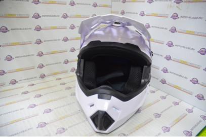 Шлем кросс HIZER J6801 (S) #2 white