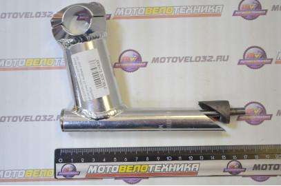 Вынос руля вело не регулир.25.4х90мм.угол 15* серебро