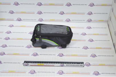 Велосумка на раму с карманом для телефона