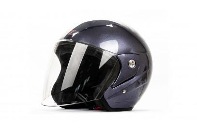 Шлем открытый HIZER 212 серый-жасмин  L