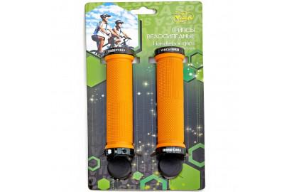 Ручки руля (грипсы L-125мм цветные) в индивид.упаковке Vinca Sport