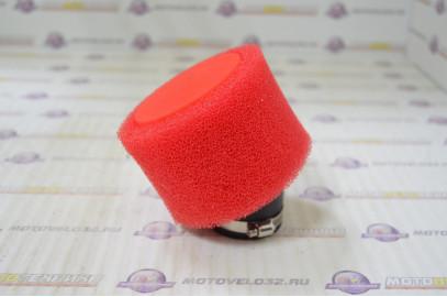 Фильтр воздушный нулевого сопротивления 42мм 45гр. красный